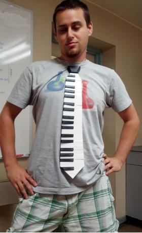 钢琴琴键领带
